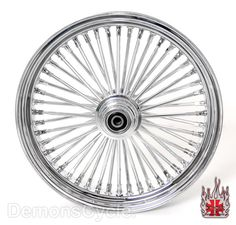 Image detail for -Set of Chrome Fat Mammoth 48 Spokes Wheels 18x3.5 18x3.5 for Harley ...