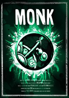 World of Warcraft: Monk Class Symbol print/poster por SodaArcade