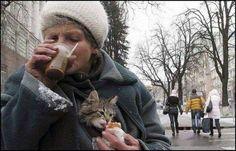 She loves her cat.