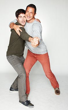 GRIMM! I don't know what's weirder though, them doing a tango pose or Sasha Roiz wearing tight pants 8I