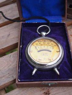 当時物 懐中時計型テスター VOLTMETER J.T 真空管ラジオ