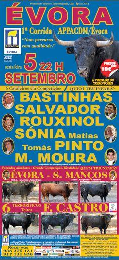 Pátio de Quadrilhas: Cartaz da Corrida em Évora - 5 de Setembro de 2014...