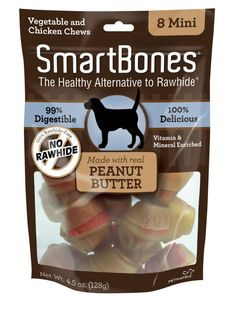 SmartBones Peanut Butter Mini 8Pk * Want to know more, click on the image. (This is an affiliate link and I receive a commission for the sales)