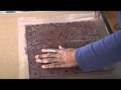 Pottery Video: How to Make a Cut Tile Mosaic - YouTube Angelica Pozo demonstrates this very clearly