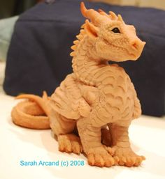 Dragon sculpture by PaintedKelpie on DeviantArt