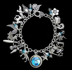 ~THE MORTAL INSTRUMENTS / THE INFERNAL DEVICES INSPIRED CHARM BRACELET~   This gorgeous handcrafted charm bracelet is inspired by the book