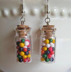 Mini Rainbow Candy Jar Earrings - Food Jewelry on Etsy,