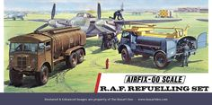 Airfix RAF Refueling Set - Featuring the AEC Matador and Bedford QL Refuelling Trucks with ground crew, they served to keep the aircraft in the sky where they were needed. An important part of any day to day operation.