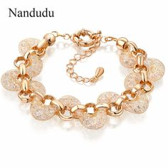 Nandudu ROSE  Mesh Net Crystal Net Women Girl Female Bangle Fashion Jewelry Gift B226 #Affiliate