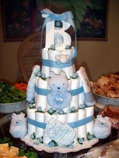 Boy Diaper Cakes For Baby Showers - Bing Images