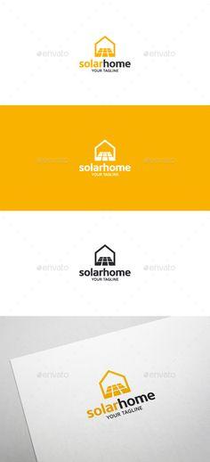Solar Home  - Logo Design Template Vector #logotype Download it here: http://graphicriver.net/item/solar-home-logo-template/13799452?s_rank=1717?ref=nexion