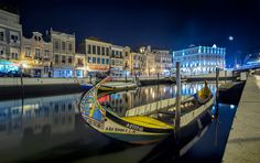 Portuguese Venice - A night shot taken in Aveiro. A city middle north of Portugal with an absolutely lovely canal that passes through the city.