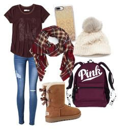 """""""School Day!!"""" by nmarieo-1 ❤ liked on Polyvore featuring Casetify, Abercrombie & Fitch, UGG, Sole Society and SIJJL"""