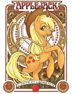 """My Little Pony - Friendship is Magic """"Art Nouveau"""" Apple Jack!"""