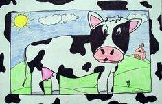 Cows on parade...love the border