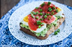 Smashed Avocado Toast with Egg and Smoked Salmon - Jeanette's Healthy Living