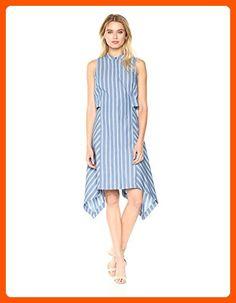 25a65aaa30 BCBGMax Azria Women s Calpyso Woven Sleeveless Striped Dress