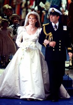 The July 23,1986 wedding of Prince Andrew and Sarah Ferguson. Mom's wedding dress was based on this.