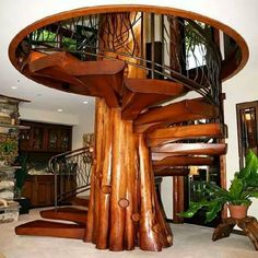 Describe this staircase with one word