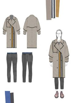 Fashion Sketchbook - fashion illustration; coat design drawings; fashion portfolio // Caroline Day
