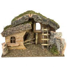 Empty hut with fence cm Christmas Grotto Ideas, Christmas Crib Ideas, Christmas Manger, Christmas Clay, Christmas Nativity Scene, Christmas Crafts, Nativity Creche, Nativity Stable, Nativity Scenes