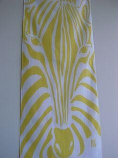 "shimauma(kao)...zebra(face)  c/# yellow    tenugui ""cu3"""