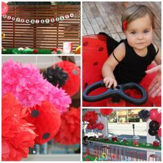 First Birthday Decorations For Girls | Real Parties: Leighton's Ladybugs
