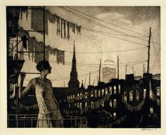"""inland-delta: """"Martin Lewis, Glow of the City, 1929 """""""