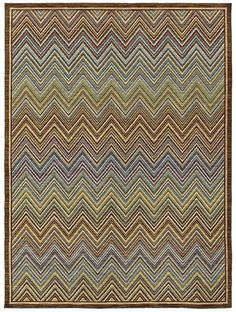 """maybe for patio?  Shaw Floors area rug in style """"Rhodes"""" color Multi..  great trend forward Missioni pattern"""