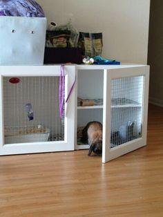 Ikea Bunny hutch diy