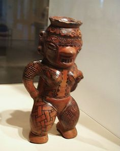 Ceramic figure from the Nicoya culture of Costa Rica on display at the Denver…