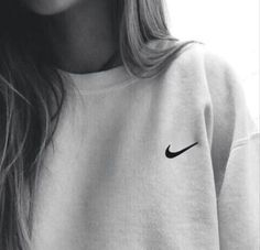 "Women ""NIKE"" Round Neck Top Pullover Sweater Sweatshirt"
