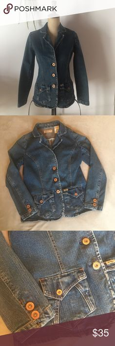 """Vintage Levi Strauss Jean Jacket Blazer Retro style Levi Strauss denim blazer. Great condition, all buttons secure.  99% cotton 1% spandex Size small  Laying Flat Measurements: Armpit to armpit: 18"""" Length: 24"""" Sleeve: 23"""" Signature by Levi Strauss Jackets & Coats Jean Jackets"""