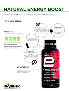 E+Shot is a natural energy drink that is loaded of health benefit!! I'm This is my SAVIOUR to boost my energy!