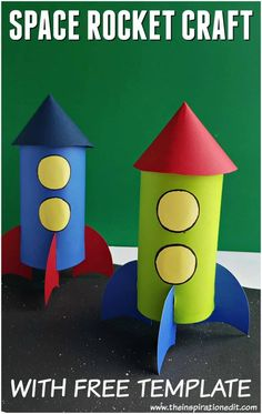 Homemade Rocket Craft For Kids – Craft Play Learn – etkinlik – Crafts Space Crafts For Kids, Toddler Arts And Crafts, Easy Crafts For Kids, Craft Activities For Kids, Preschool Crafts, Projects For Kids, Art For Kids, Craft Projects, Craft Kids