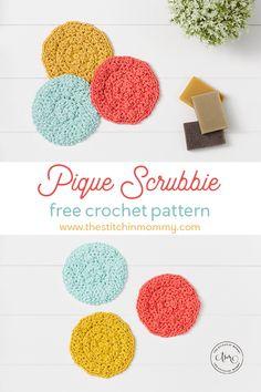 Pique Scrubbie - Free Crochet Pattern | www.thestitchinmommy.com #CALCentralCrochet Afghan Crochet Patterns, Fabric Patterns, Knitting Patterns, Bird Patterns, Easy Crochet, Free Crochet, Pattern Design Drawing, Crochet Projects, Crochet Crafts
