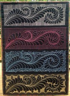 Four Feathered Friends by LivinH20 | Quilting Ideas
