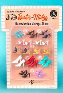 2004 Barbie & Midge - 1964 Reproduction Vintage Shoes (Teen-Age Fashions For) #G7917