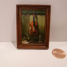 Jeff Wilkerson - still life with violin, oil painting on wood, after Albert King