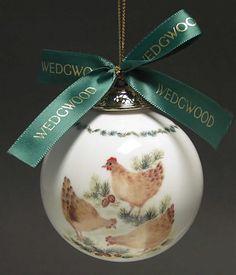 Wedgwood 12 DAYS Christmas Ornament 3 HENS 2389075