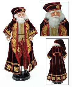 "Katherine's Collection A Christmas Journey Christmas Collection Approx 24"" Jules Garland Seabury Santa Doll Free Ship"