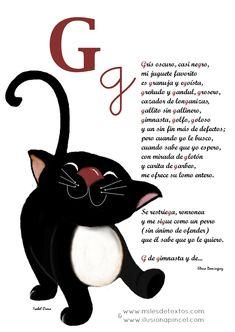 """Poesía para ayudar a los niños a aprender la letra """"G"""""""