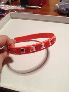 Cintillo de 2 colores cinta Gros