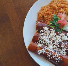 Our enchiladas rojas are the ultimate comfort food. http://discoverthewow.com/ #enchiladas #tacopalenque #discoverthewow