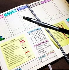 Bullet Journal Printable MS Word DIY Daily Routine Zone