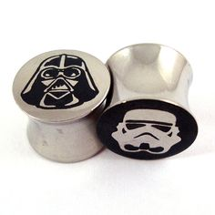 Astral Double Flared Plugs  Stainless Steel  2g 0g por EarEmporium, $18.00