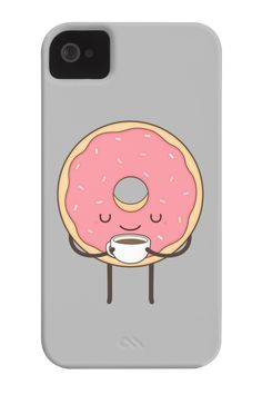 donut loves coffee Phone Case for iPhone 4/4s,5/5s/5c, iPod Touch, Galaxy S4