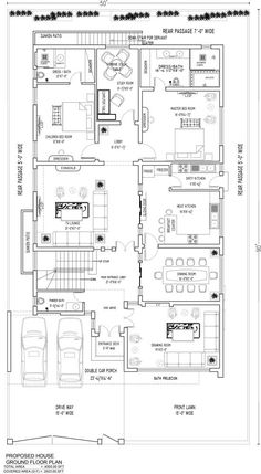 Contemporary House Design | By DESIGN TECHNIQUES – 1 kanal House 20x30 House Plans, Free House Plans, 4 Bedroom House Plans, Duplex House Plans, House Layout Plans, House Layouts, Small Modern House Plans, Simple House Plans, Beautiful House Plans