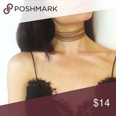 TAN layered choker Tan layered choker! 😍 available in 3 colors White, Black and Tan 😍 NO trades. Bundle and save! Please use the OFFER TOOL Jewelry Necklaces