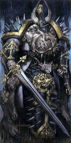 Lion El'Jonson or The Lion was the Primarch of the Dark Angels Space Marine Chapter. He was scattered along with the other Primarchs to the far corners of the galaxy. He finally came to rest on the world Caliban, a beautiful but blighted world tainted by Chaos due to its proximity to the Eye of Terror.